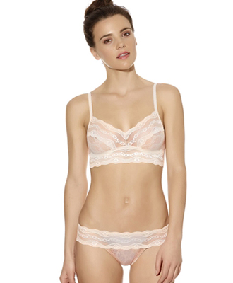 b.tempt'd Lace Kiss Bralette and Thong - Ivory Nude