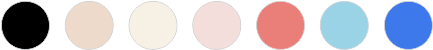 Black | Nude | Ivory | Pearly Pink | Salmon | Powder Blue | Dark Blue